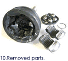 10.Removed parts.